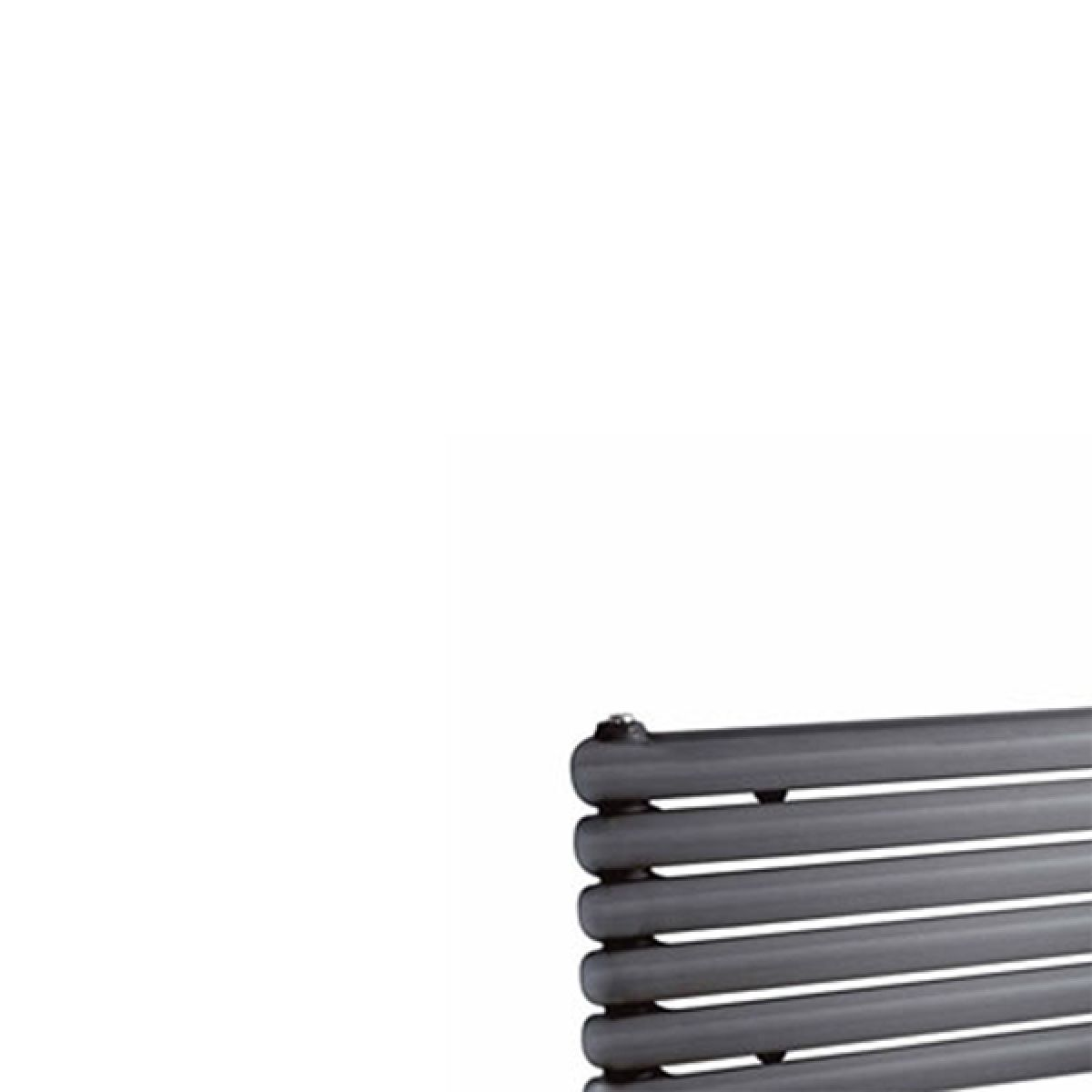 Hudson Reed Salvia Anthracite Double Panel Horizontal Column Designer Radiator Detail 1