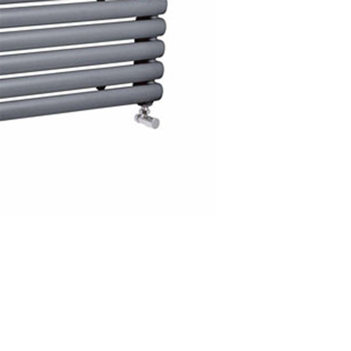 Hudson Reed Salvia Anthracite Double Panel Horizontal Column Designer Radiator Detail 2
