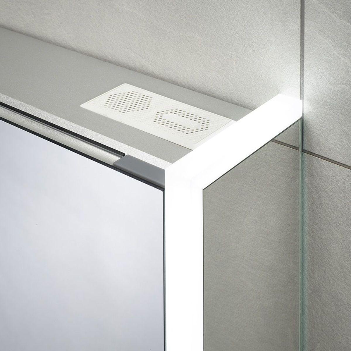 Sensio Ainsley Single Diffused LED Mirrored Cabinet Speaker