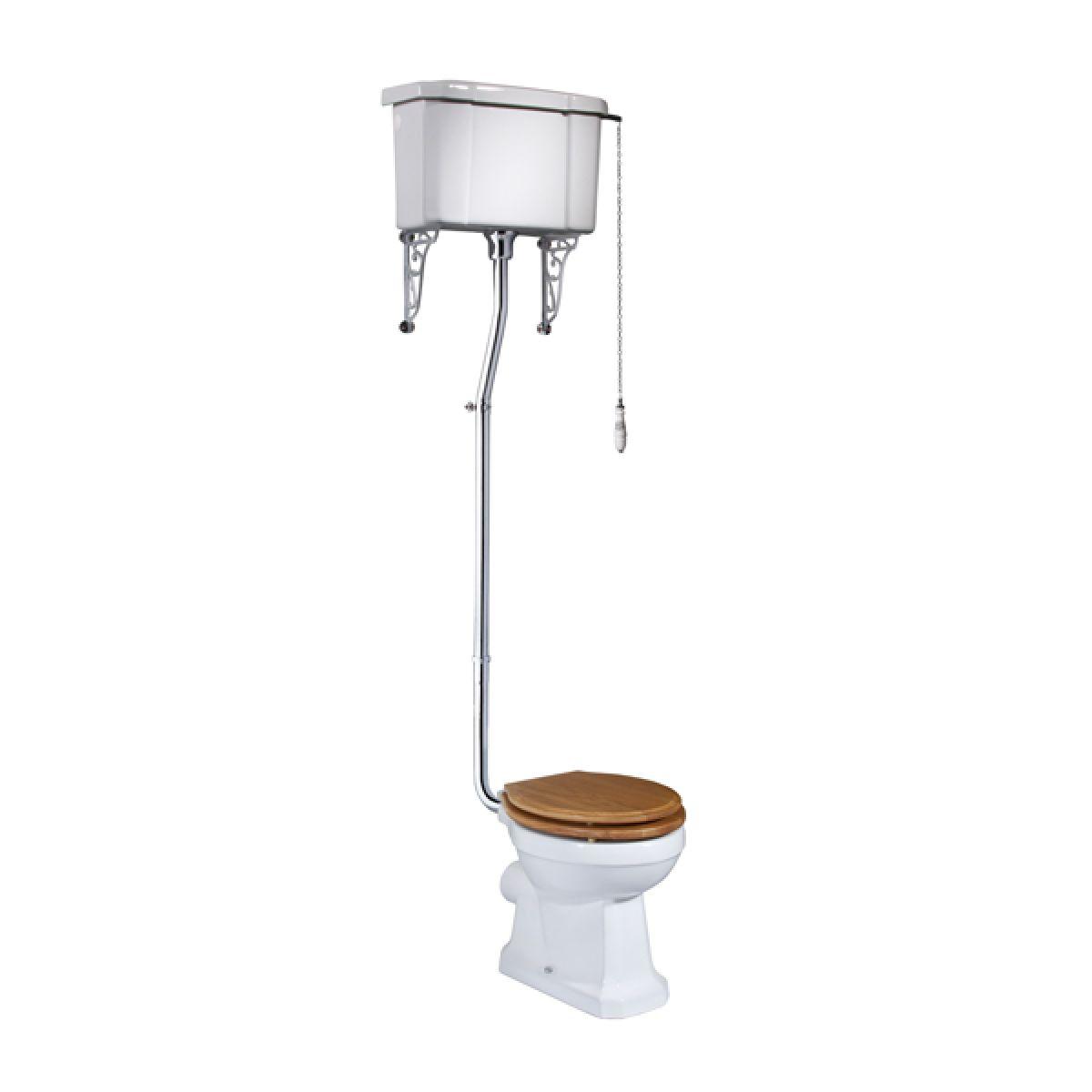 Tavistock Vitoria High Level Toilet - Natural Oak Seat
