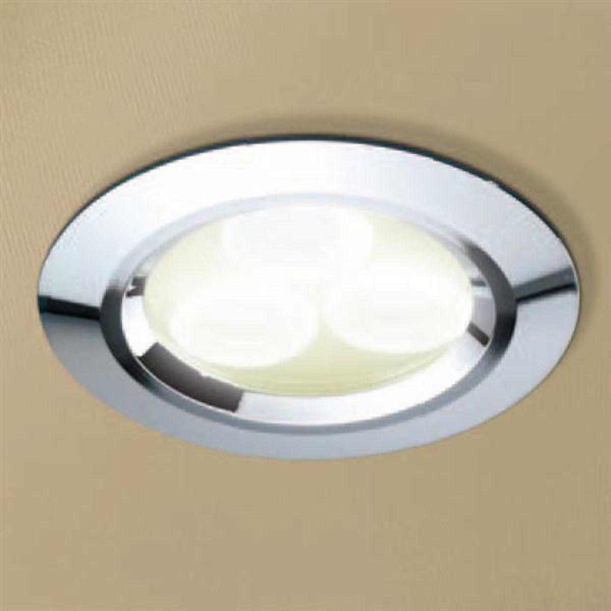HiB Warm White LED Chrome Shower Light