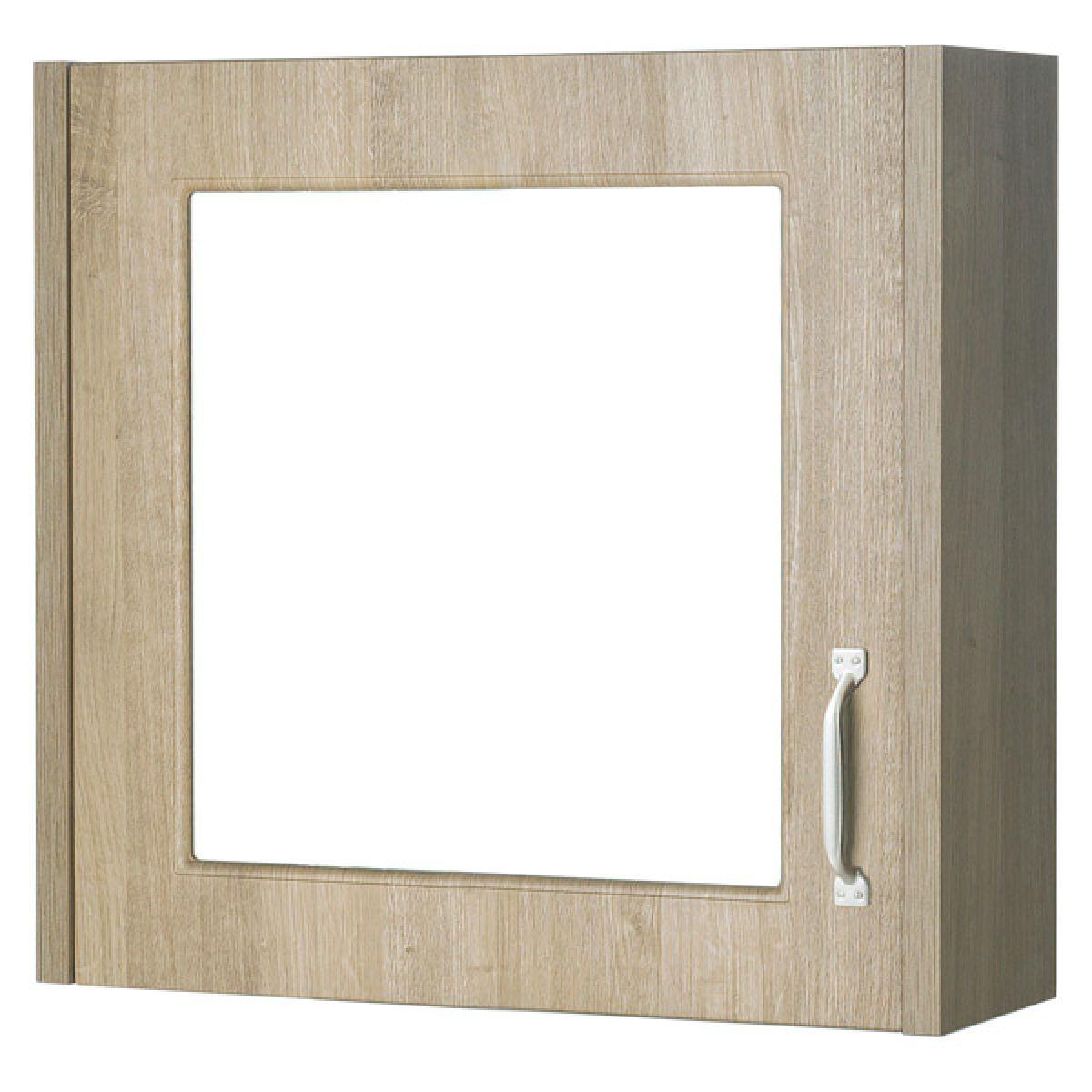 York Traditional Gladstone Oak Mirror Cabinet 600mm