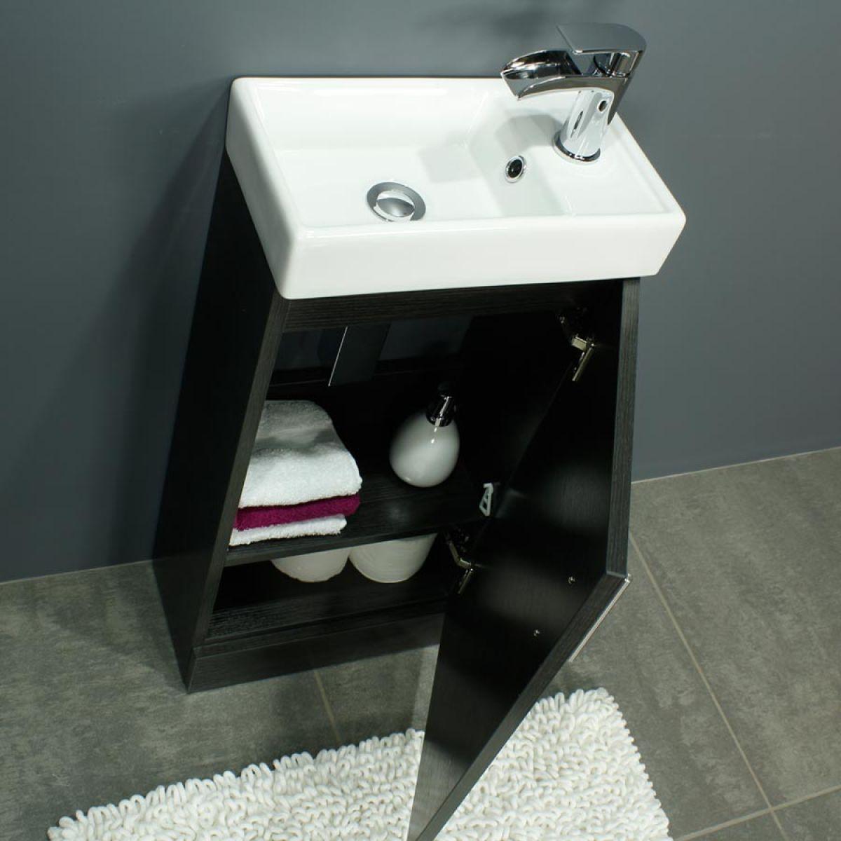 RAK Series 600 Toilet and 400 Series Black Ash Vanity Unit Door