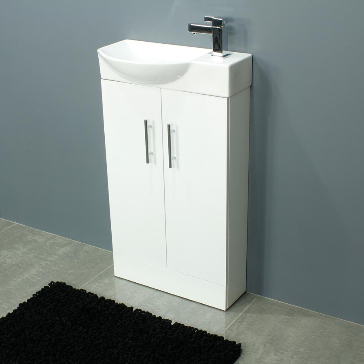 Cassellie 500 Series Mini Gloss White Double Door Vanity Unit