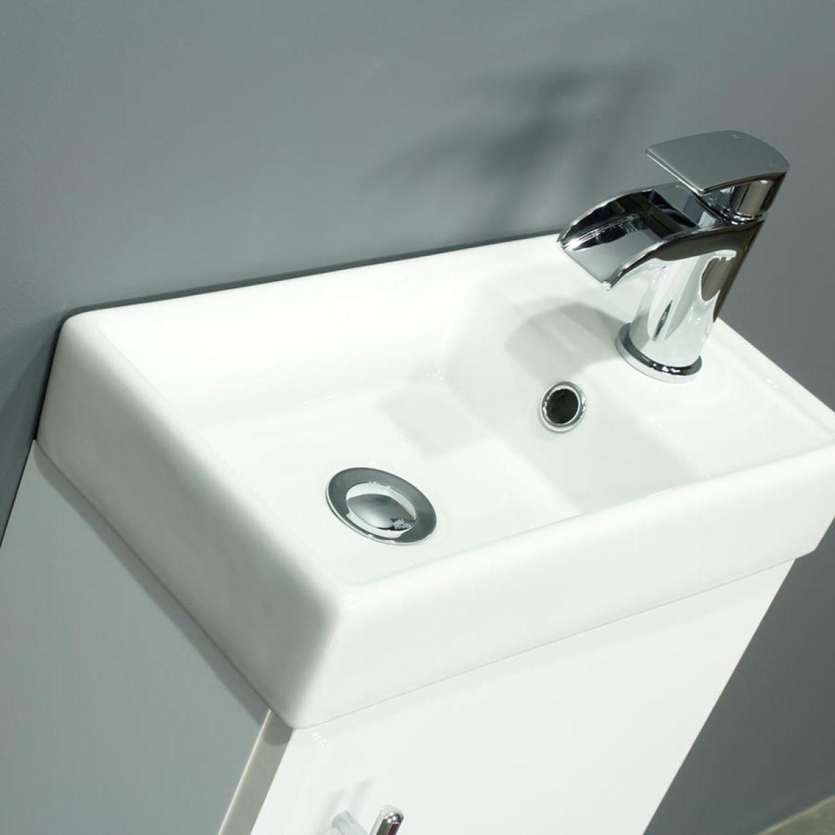 RAK Series 600 Back To Wall Toilet and 400 Series Gloss White Vanity Unit Basin