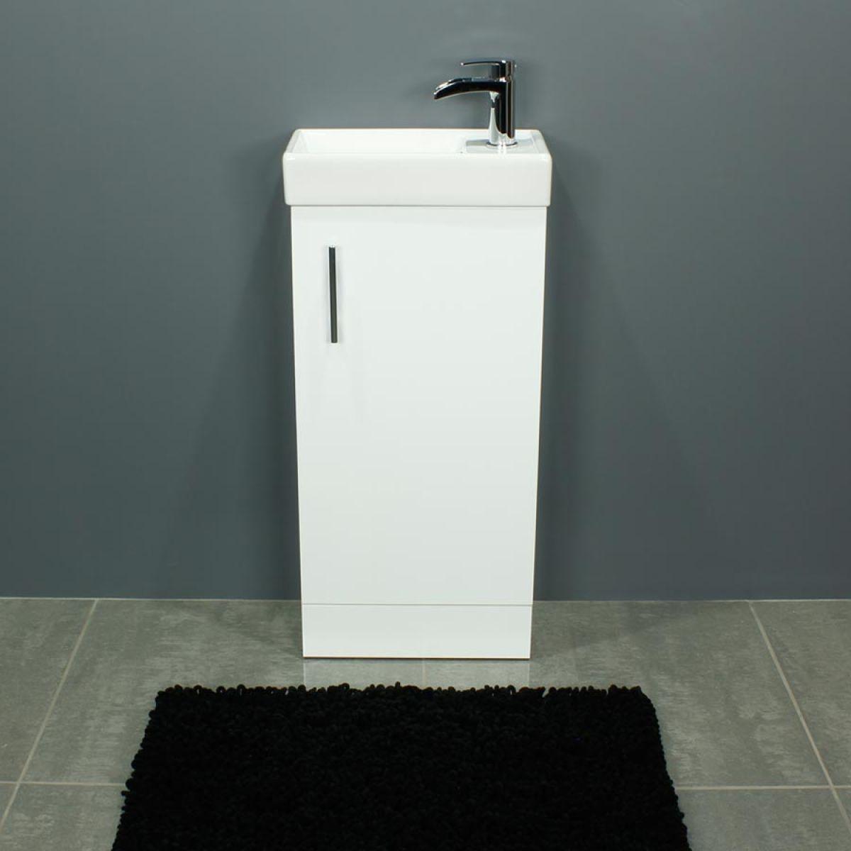 Cassellie 400 Series Gloss White Single Door Vanity Unit Front