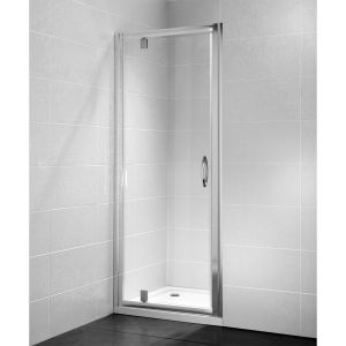April Identiti Pivot Shower Door with Optional Side Panel