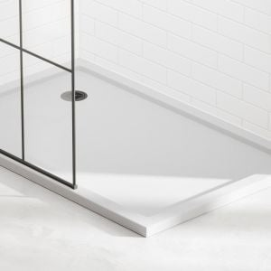 April non slip shower tray installed in a bathroom