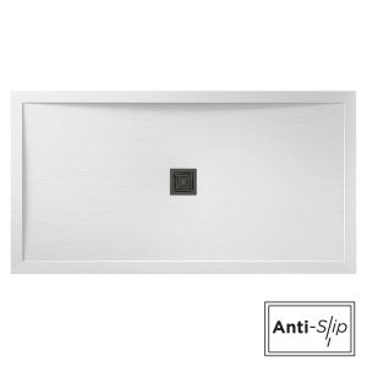 Aqualavo White Slate Shower Tray 1700 x 800