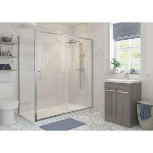 Bathrooms To Love RefleXion Classix Sliding Shower Door with Optional Side Panel 1