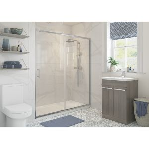 Bathrooms To Love RefleXion Classix Sliding Shower Door with Optional Side Panel