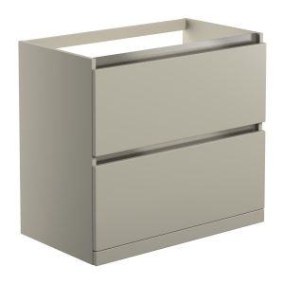 BTL Carino Latte 2 Drawer Floor Standing Basin Unit No Top 815mm