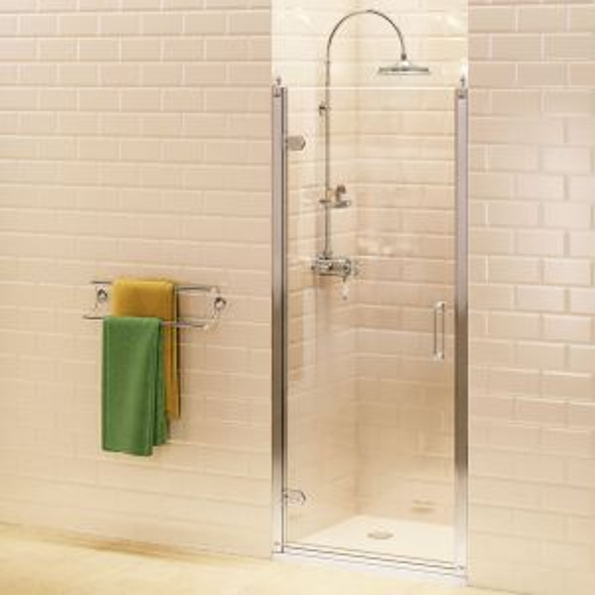 Burlington Hinged Shower Door with Optional Side Panel