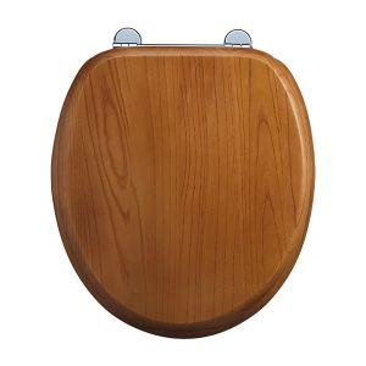 Burlington Wooden Oak Soft Close Toilet Seat