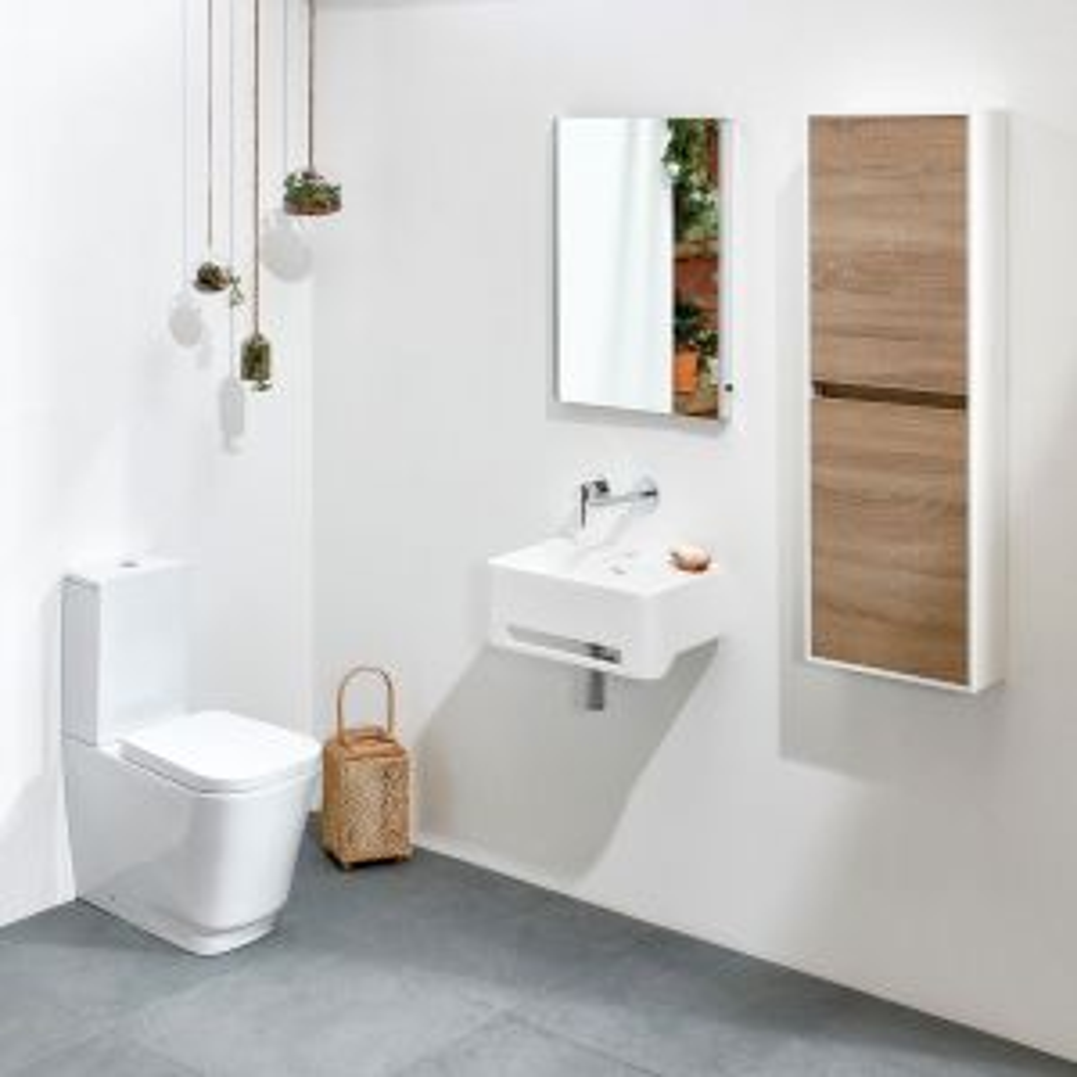 Frontline Cabanes Solid Cloakroom Basin 500mm Lifestyle