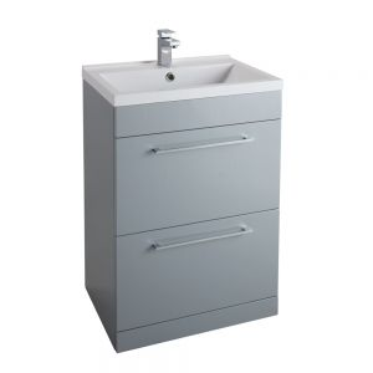 Cassellie Idon Grey 2 Drawer Vanity Unit with Basin 600mm