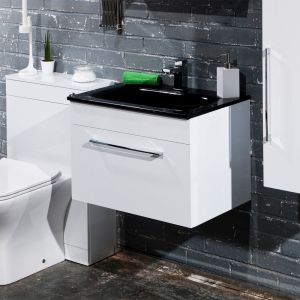 ID60WH with black basin