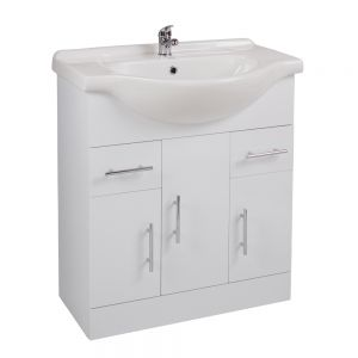 Cassellie Kass White Double Door Basin Unit 750mm