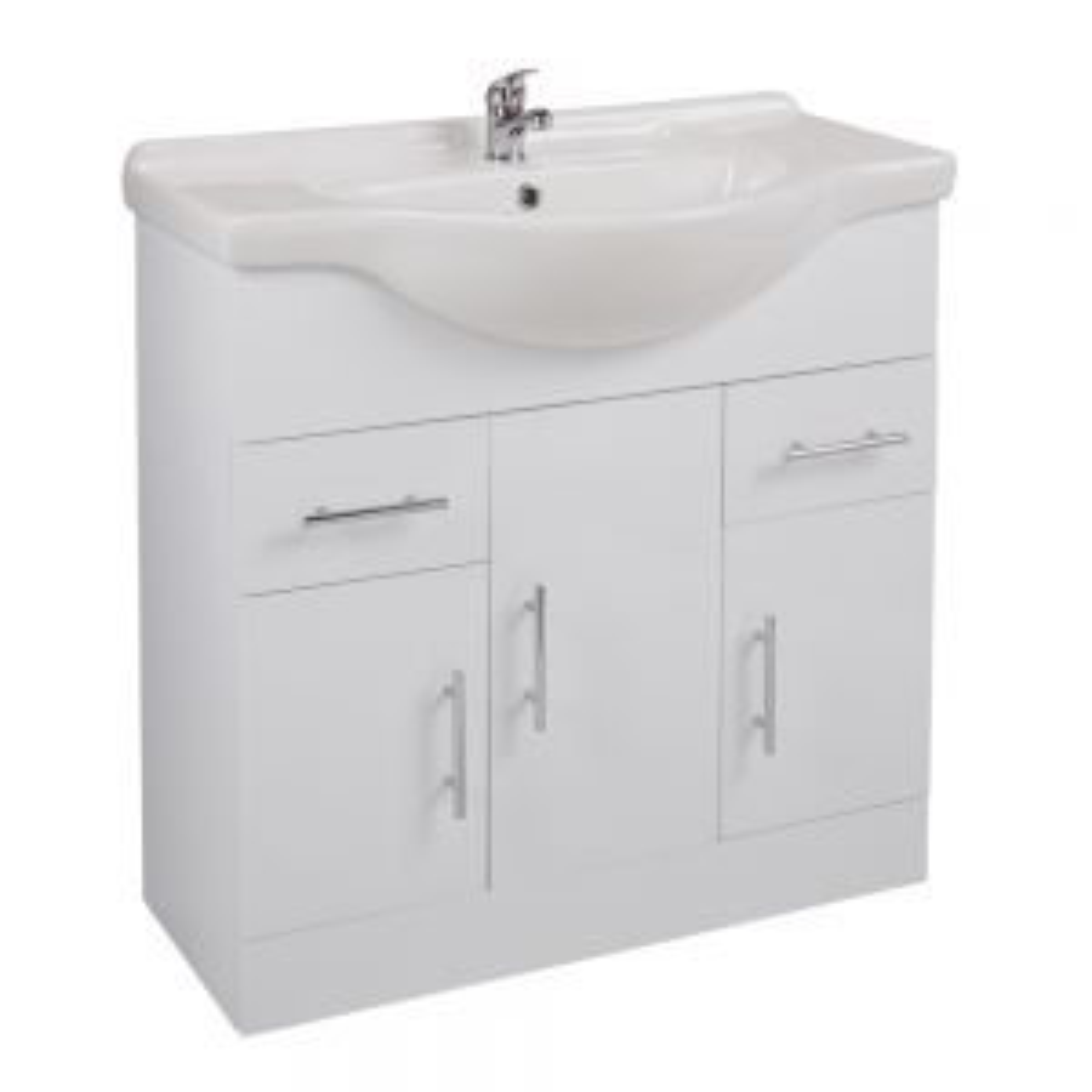 Cassellie Kass White Double Door Basin Unit 850mm