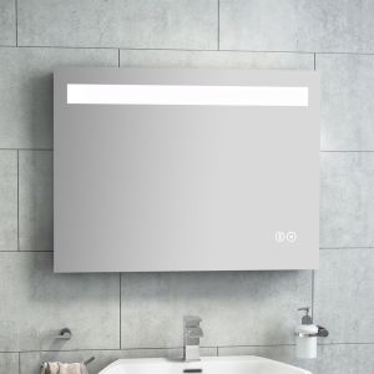 Cassellie Widestyle Illuminated LED Mirror Lifestyle