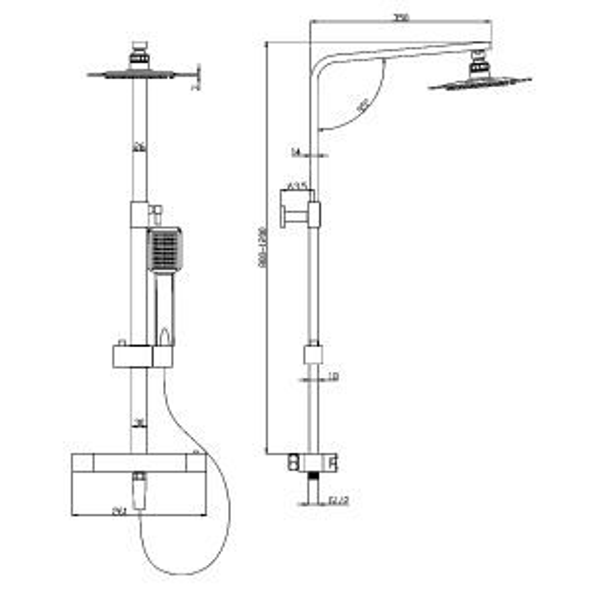 Cassellie Marilia Thermostatic Shower Kit