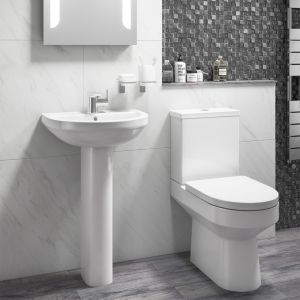 Cassellie Montego Flush To Wall Close Coupled Toilet