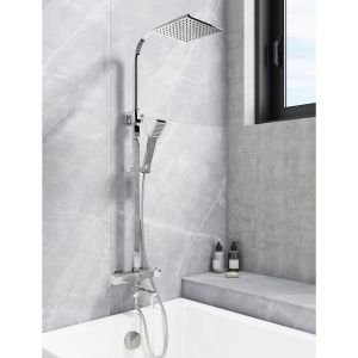 Cassellie Socorro Thermostatic Bath Filler Shower Kit Lifestyle