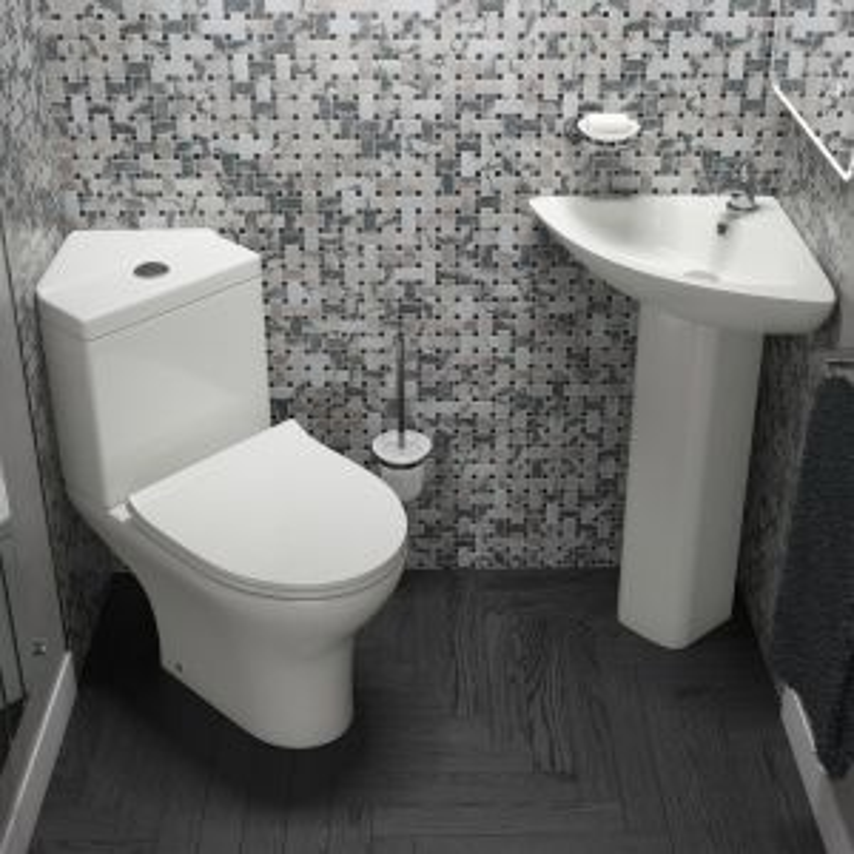 Cassellie Spek Close Coupled Corner Toilet