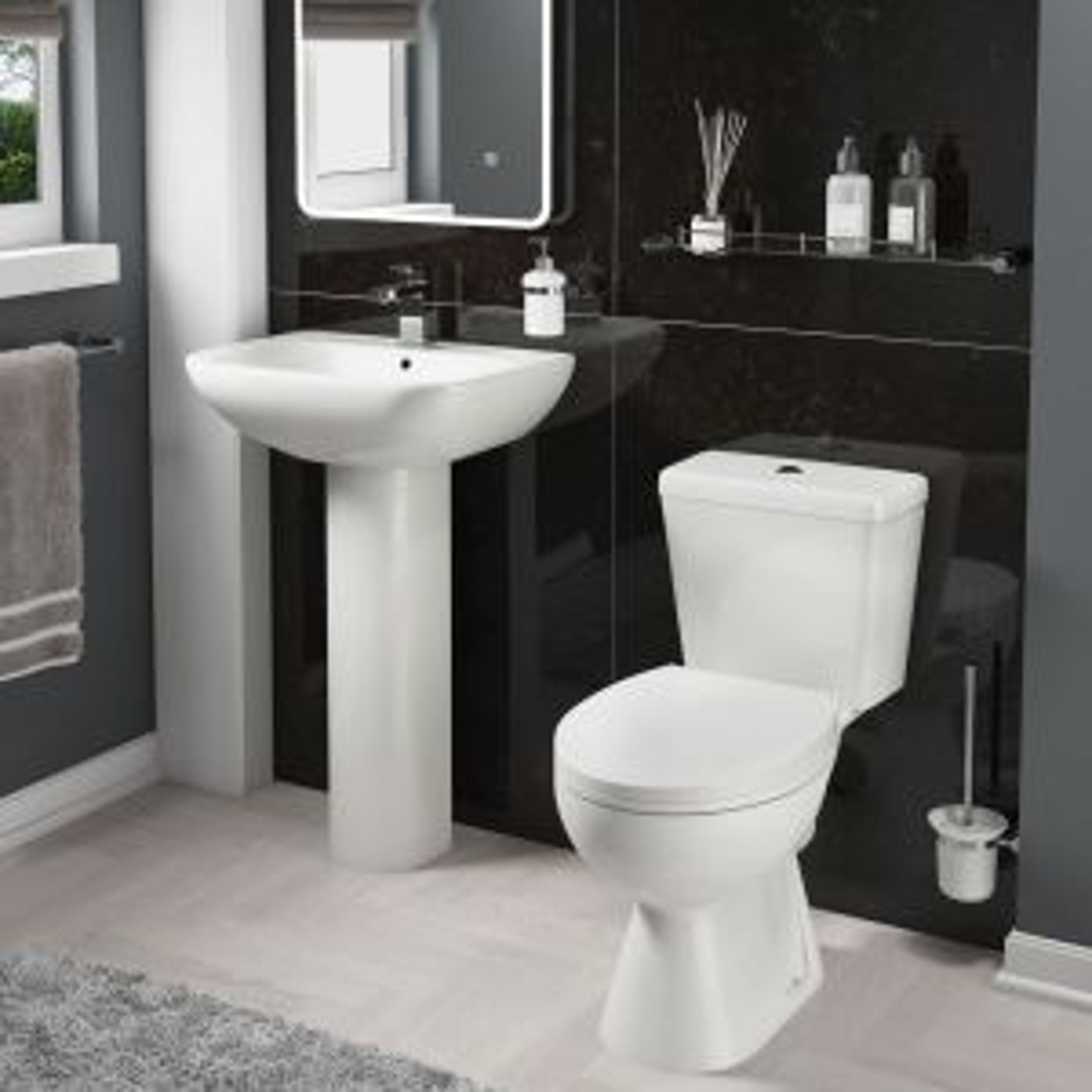 Cassellie Unison Toilet and Basin Set