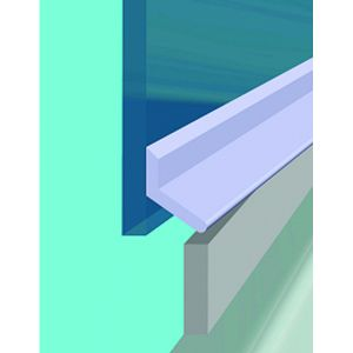 Croydex Universal Shower Door Seal Kit Drawing