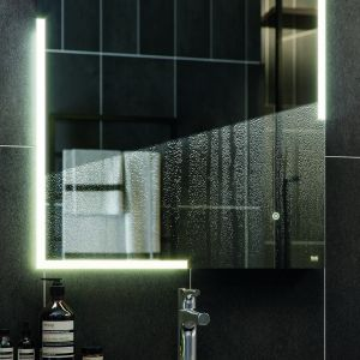RAK Pluto Heated LED Bluetooth Mirror 600 x 800 Lifestyle