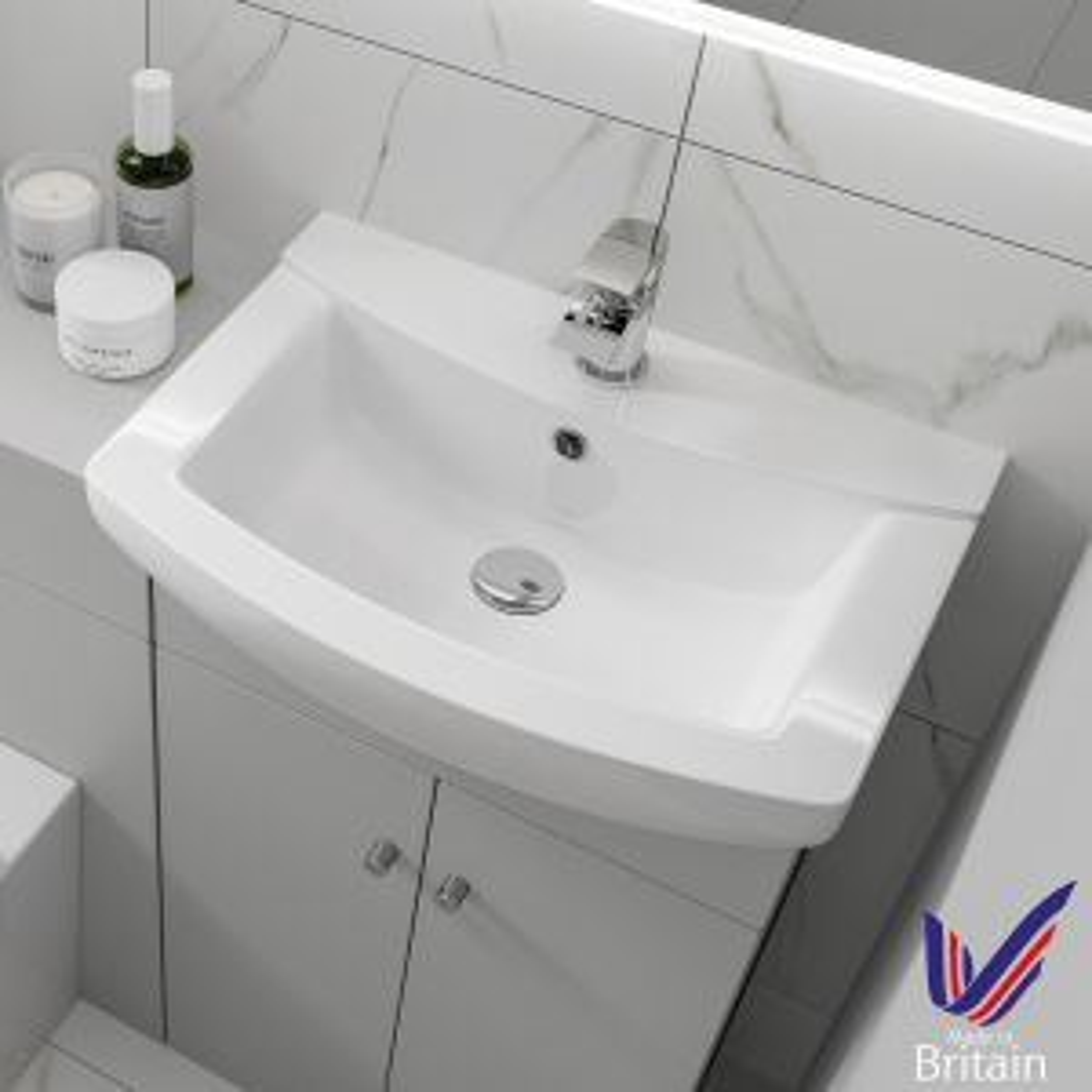 Ikoma White Gloss Vanity Unit with Basin 450mm Basin