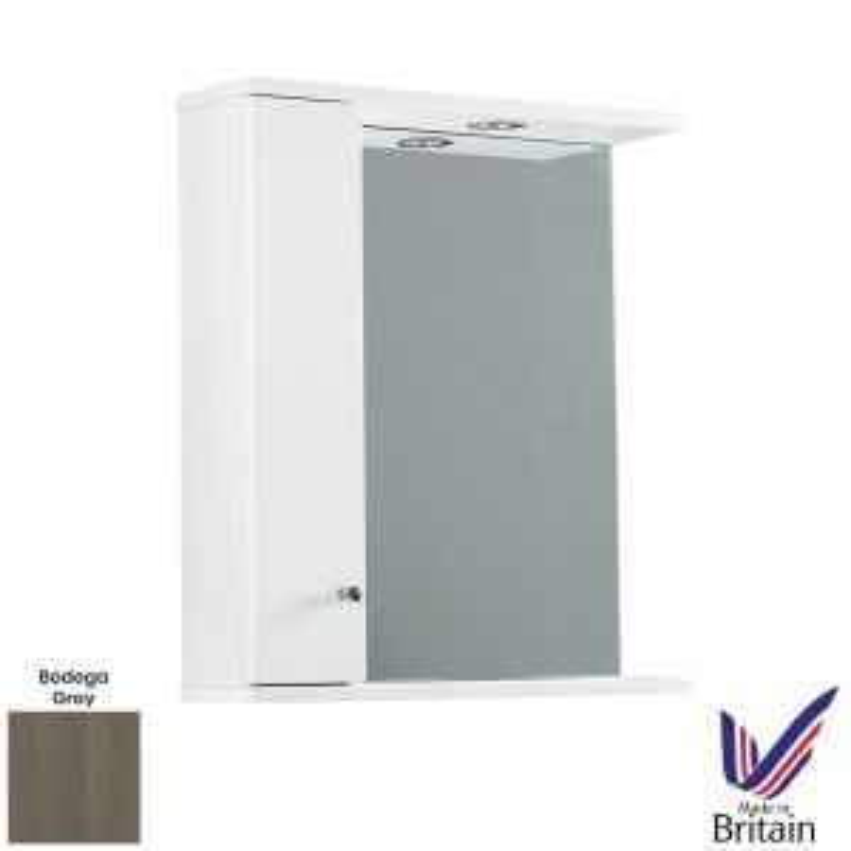 Elation Ikoma Bodega Grey Mirror Unit 650mm