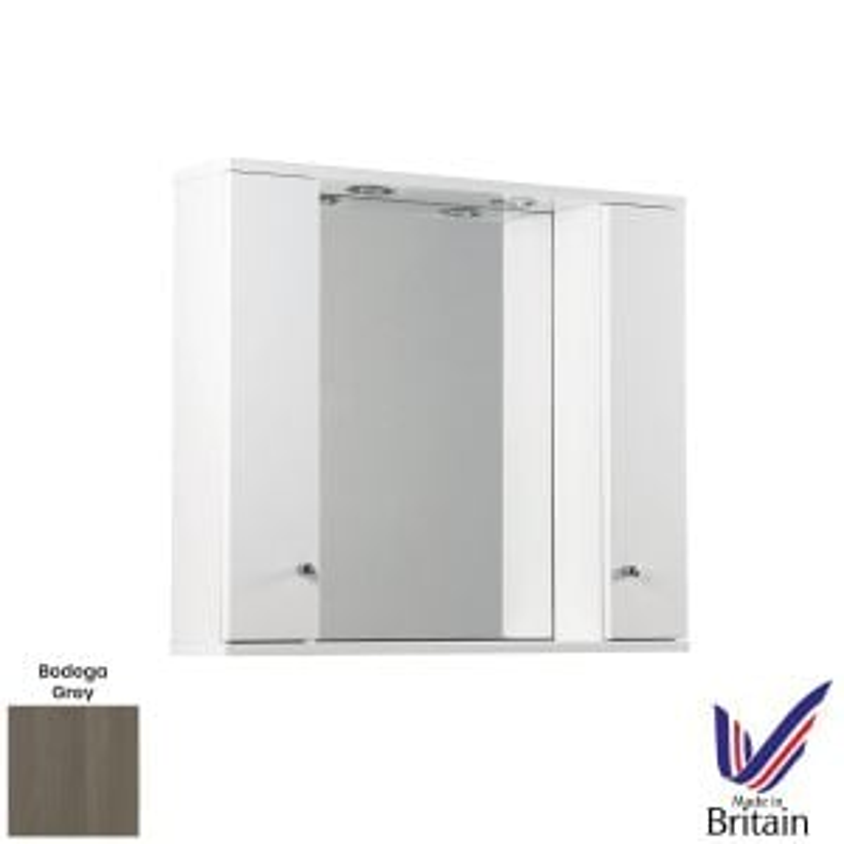 Elation Ikoma Bodega Grey Mirror Unit 850mm