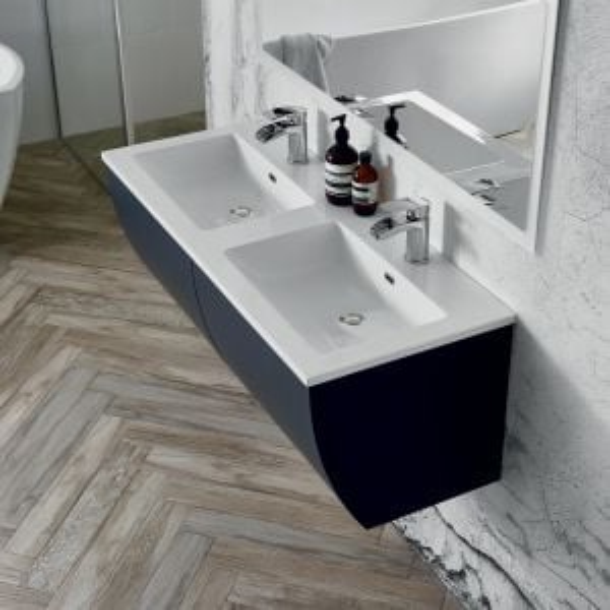 Elation Kiyo Graphite Gloss Vanity Unit 1100mm