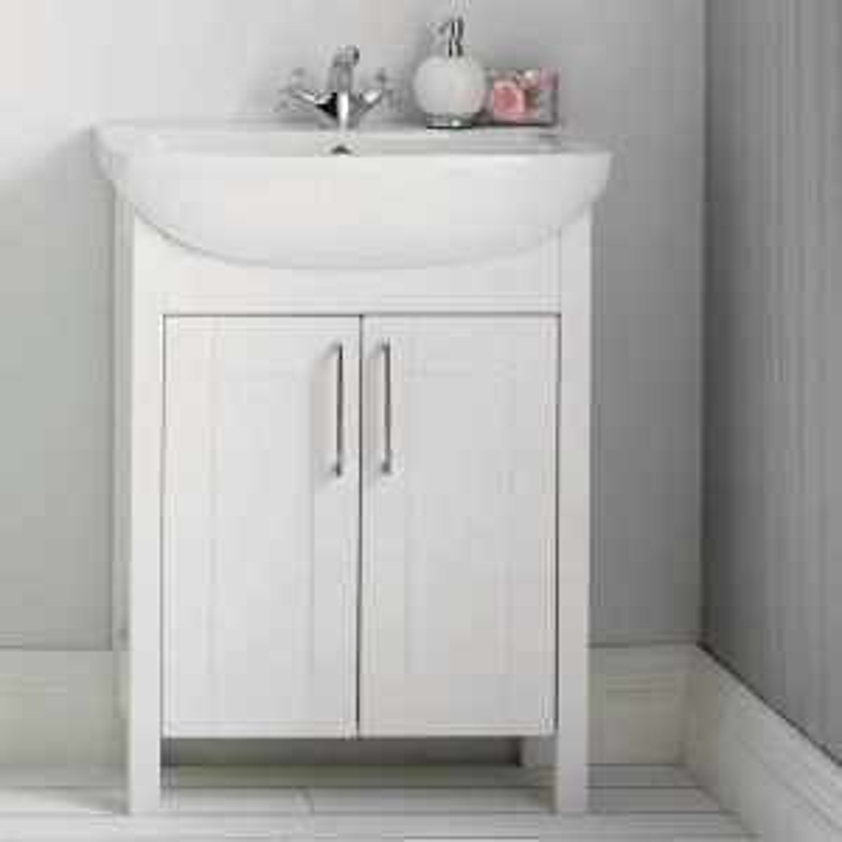 Elation Sendai White Gloss Vanity Unit with Basin 650mm