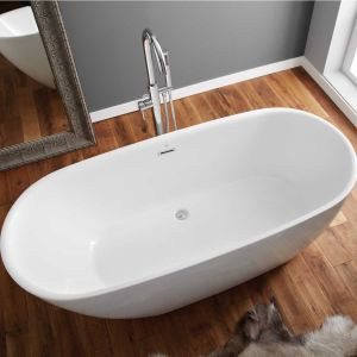 April Harrogate Thin Rim Freestanding Bath 1700mm Overhead