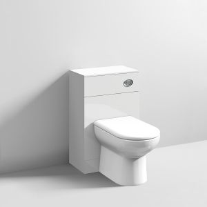 Nuie High Gloss White WC Unit