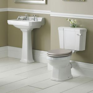 Hudson Reed Richmond 2 Tap Hole Basin with Full Pedestal 600mm Lifestyle