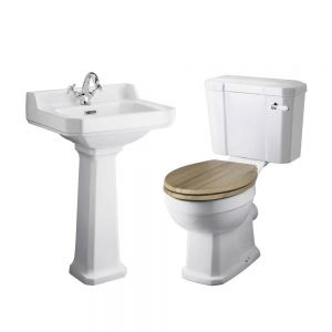 Hudson Reed Richmond Traditional 1 Tap Hole Basin and Toilet Set