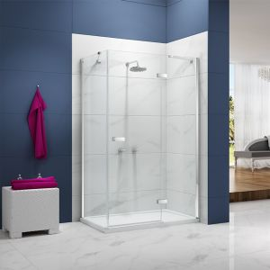 Merlyn Ionic Essence Hinge Shower Door with Inline Panel and Optional Side Panel