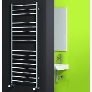 Luna Polished Stainless Steel Designer Radiator in Situation