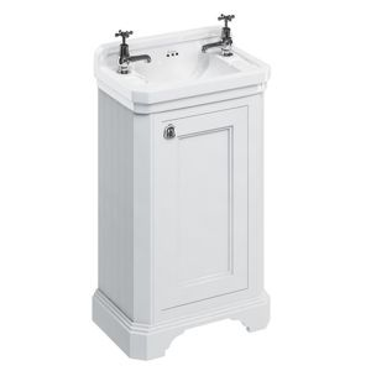 Burlington Matt White Cloakroom Vanity Unit 510mm
