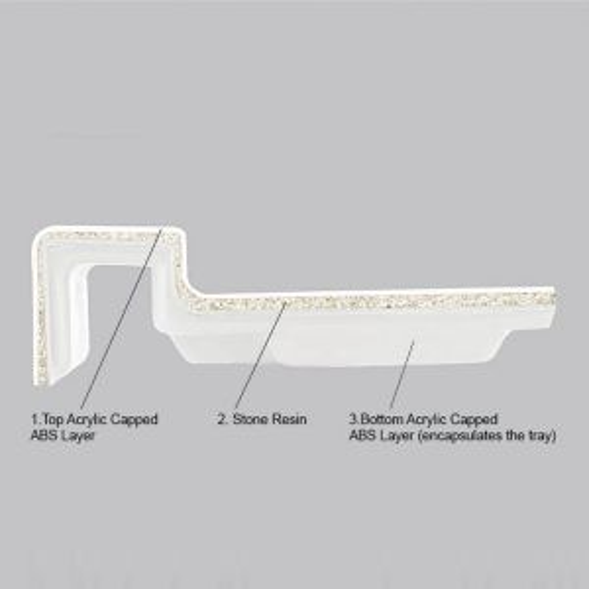 Merlyn MStone Offset Quadrant Shower Tray Left Hand 1000 x 800mm