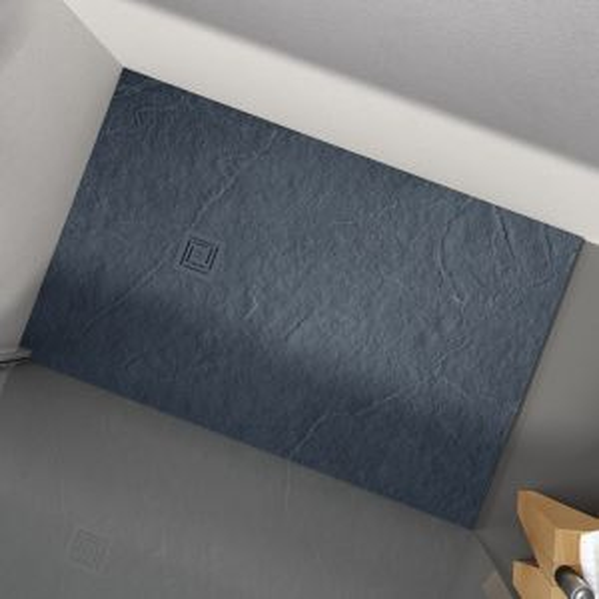 Merlyn Truestone Slate Black Rectangular Shower Tray 1200 x 900mm