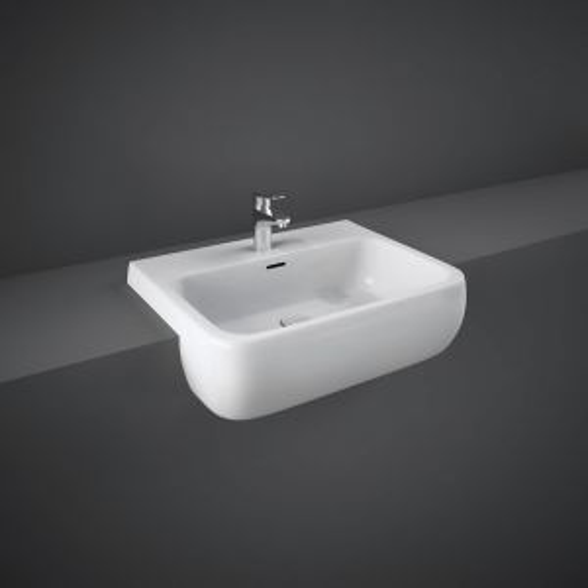RAK Metropolitan Semi Recessed Basin 520mm