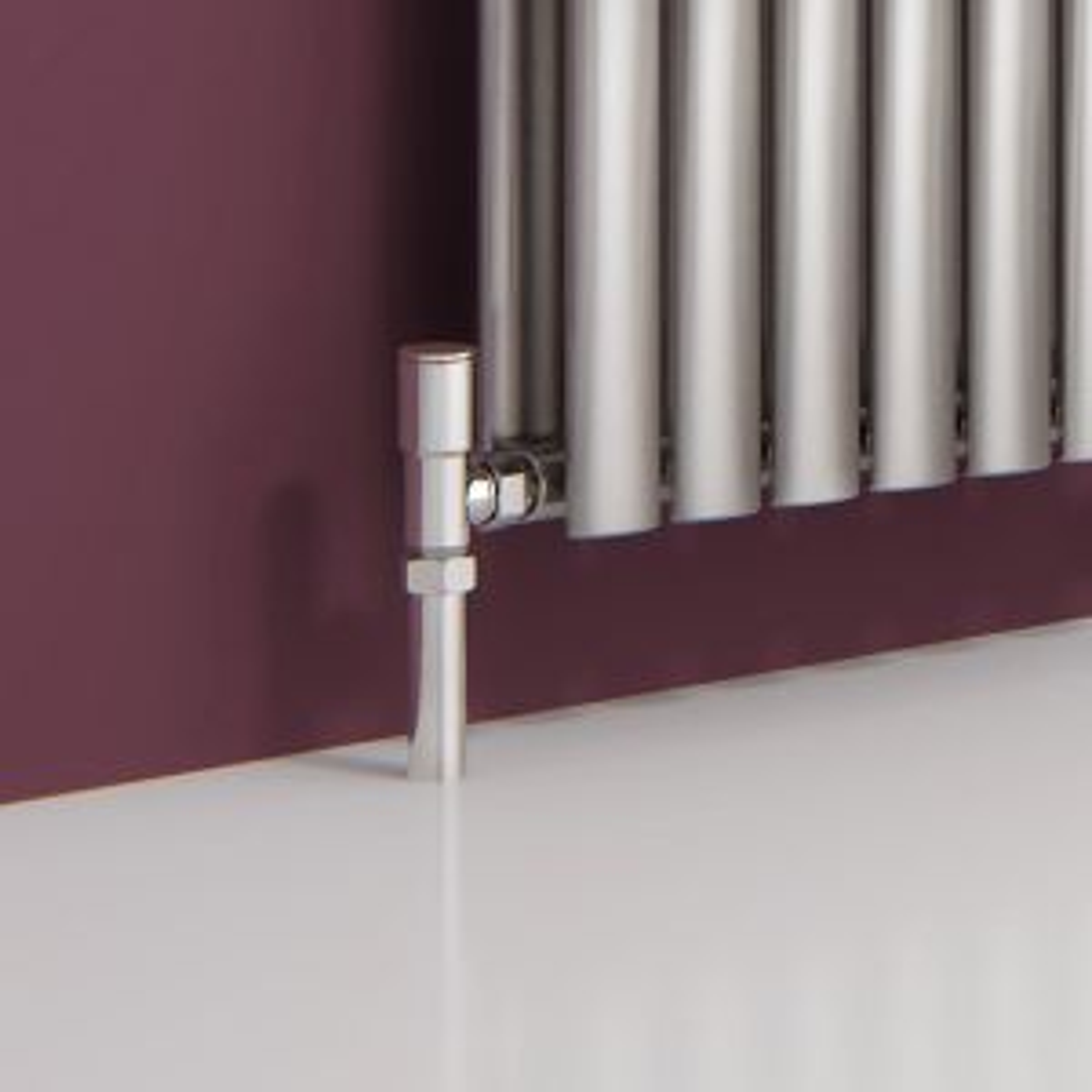 Nerox Double Brushed Stainless Steel Designer Column Radiator Detail 2