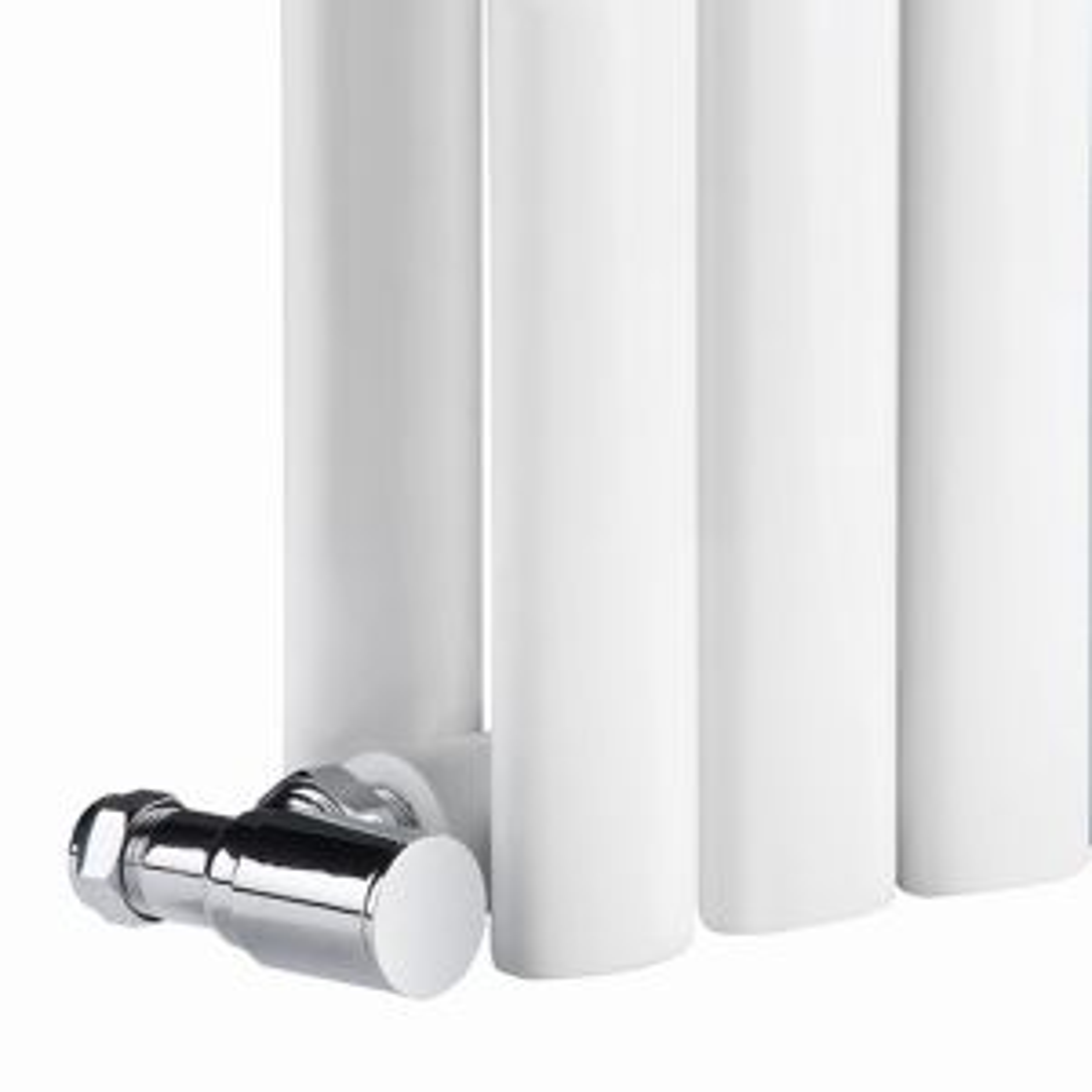 Neva Wide Single White Electric Column Radiator 550 x 1180mm Detail