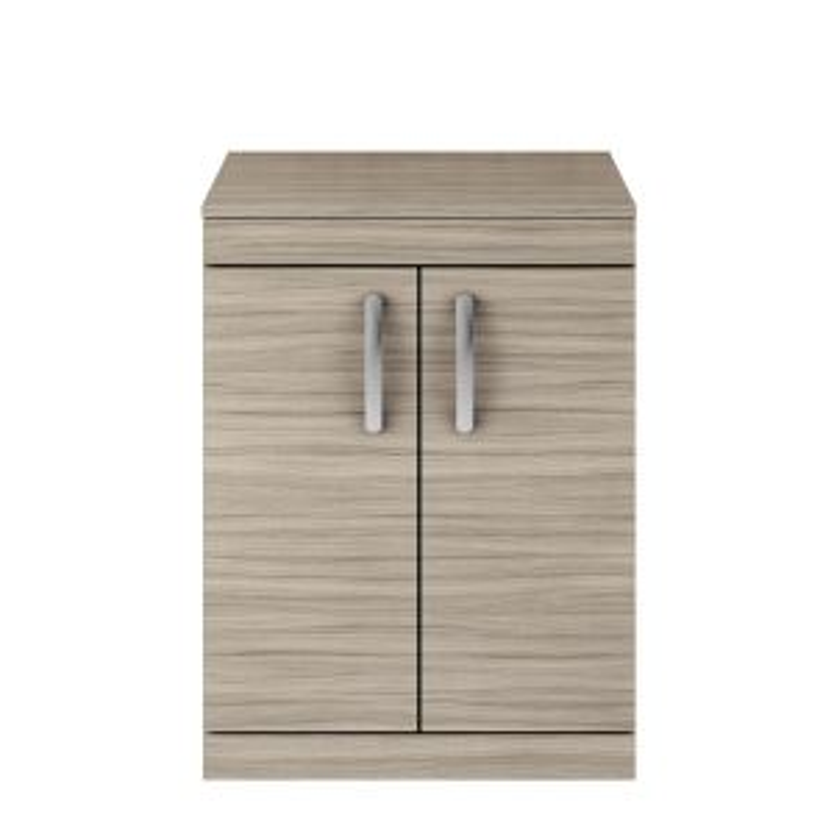 Nuie Athena Driftwood Oak 2 Door Floor Standing Vanity Unit with 18mm Worktop 500mm