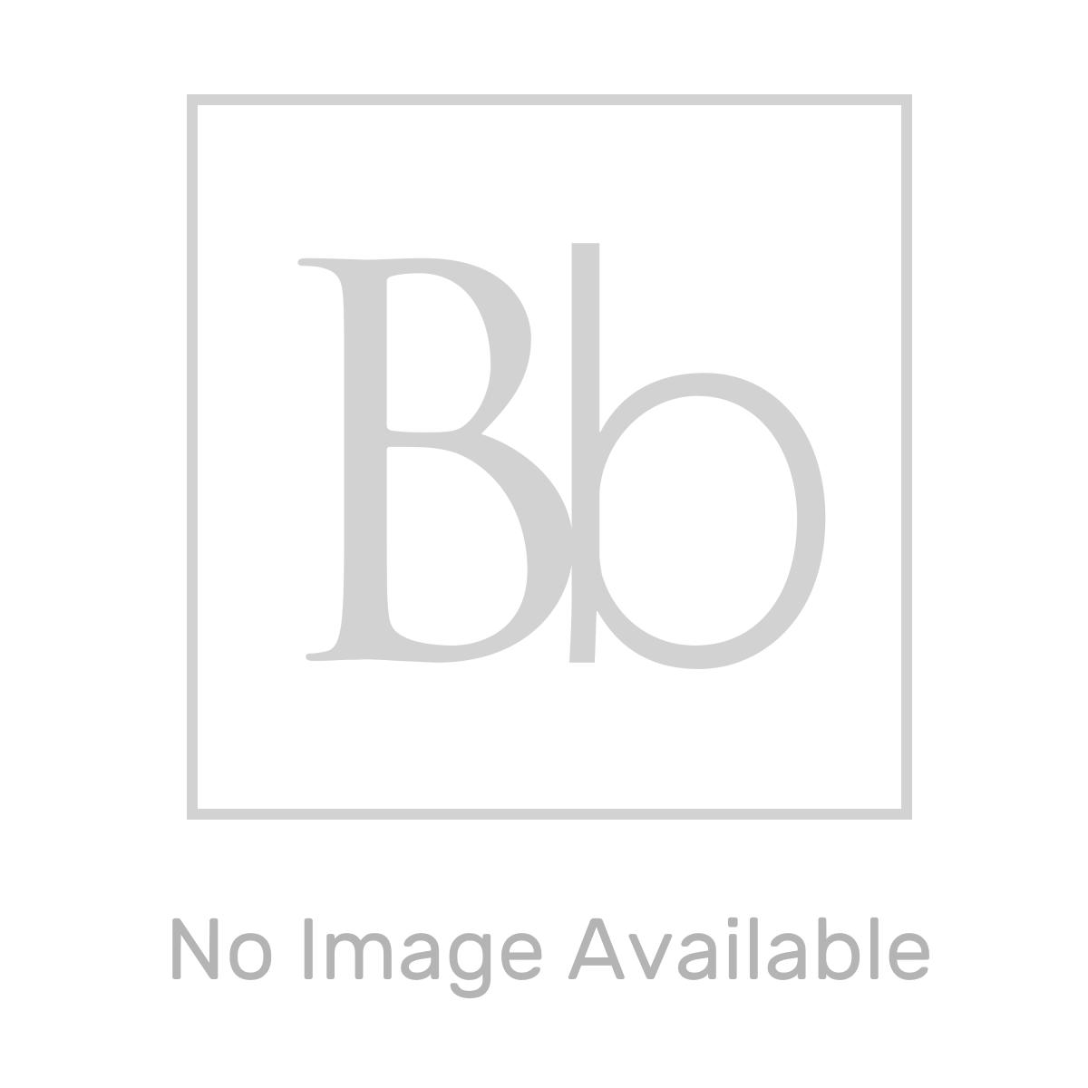 Nuie Athena Natural Oak 2 Drawer Floor Standing Vanity Unit with 18mm Worktop 600mm Line Drawing